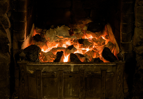 Soothe your soul watching a fire burn in the fireplace (image from BinaryApe on Flickr)