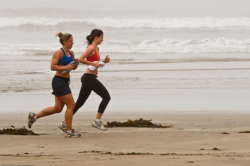 Regular exercise helps improve well-being (image from mikebaird on Flickr)