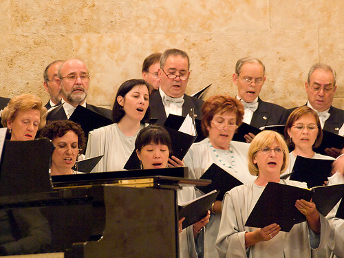Choral music always goes right through me and takes a little with it (image from rahego on Flickr)
