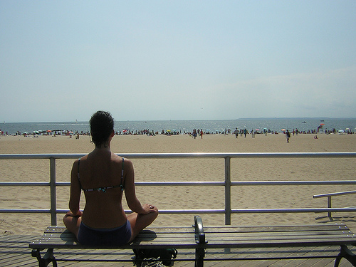 Meditating in the sunshine (image from valentinapowers on Flickr)