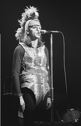 Peter Gabriel as The Moonlight Knight in 1974