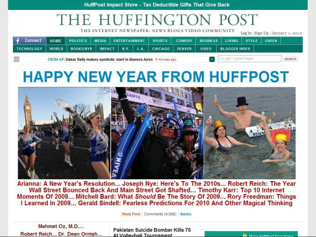 The Huffington Post is much like a regular newspaper