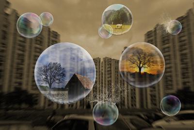 Seifenblasen gefüllt mit Träumen